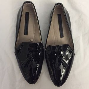 Zara Patent Leather Loafers Size 37